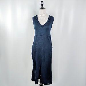 ASOS navy blue thin knit midi sweater dress